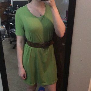 Dresses & Skirts - Lime Green Cotton T-shirt Dress